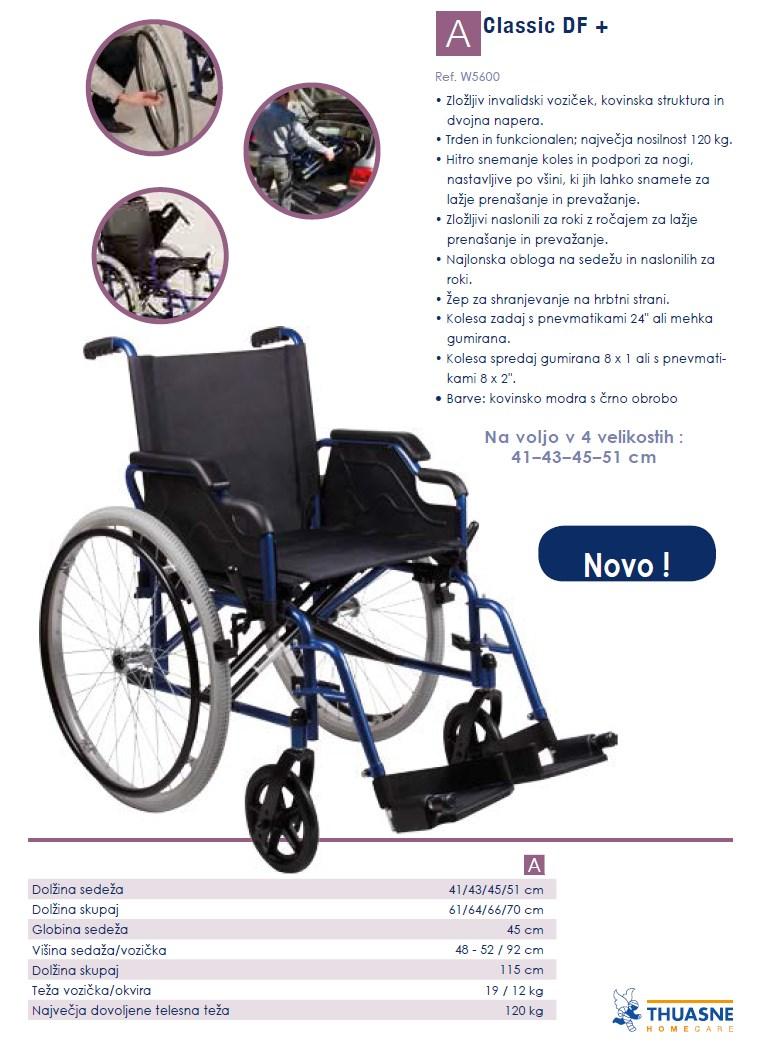 Invalidski voziček Thuasne Calssic DF +
