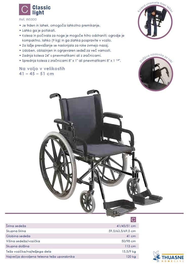 Invalidski voziček - Classic Light
