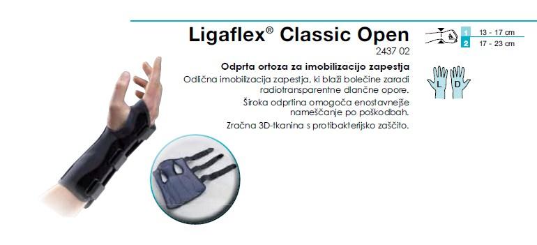 Odprta ortoza za imobilizacijo zapestja