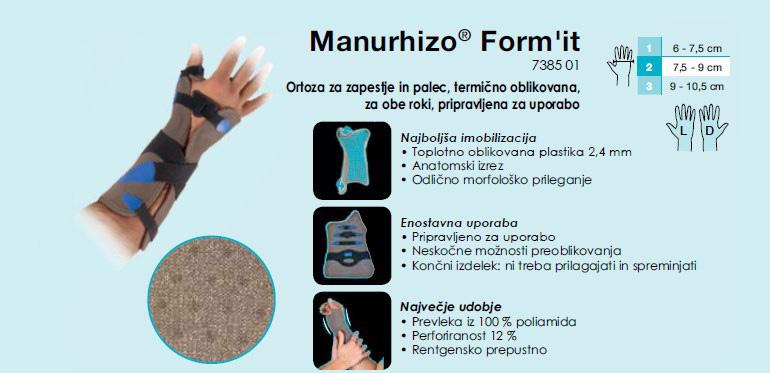 Ortoza za zapestje in palec