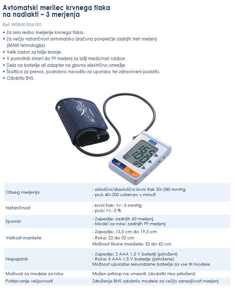 Avtomatski profesionalni merilec krvnega tlaka