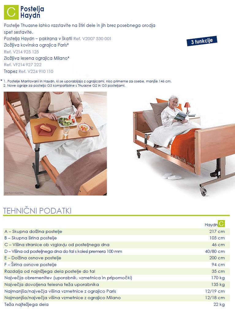 Bolniška postelja Haydn