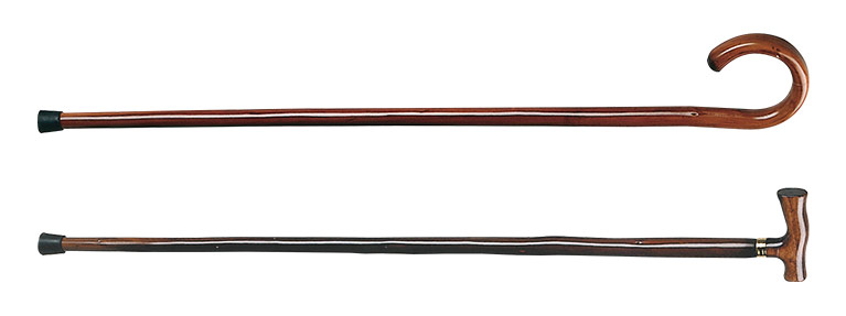 Lesena sprehajalna palica