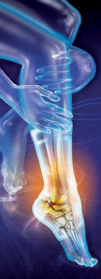 Poškodba zvin gleženj stopalo