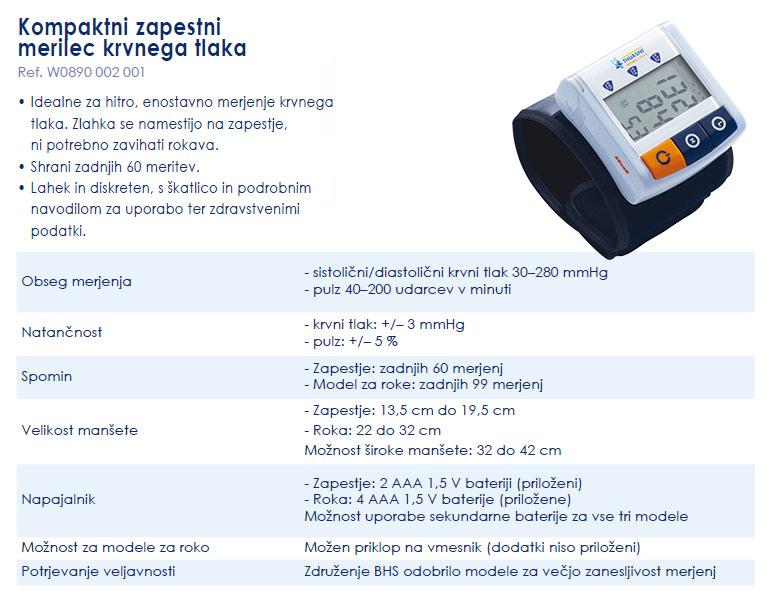 Zapestni merilec krvnega tlaka