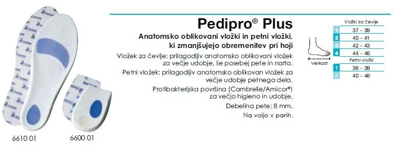 Pedipro Plus - Vložek za čevlje anatomski
