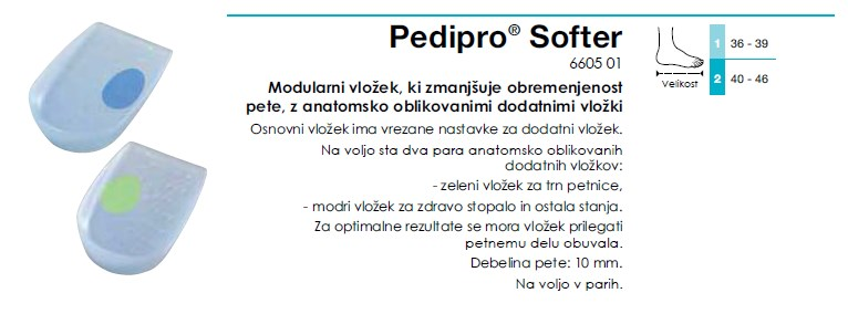 Pedipro Softer- Modularni vlozek za cevlje