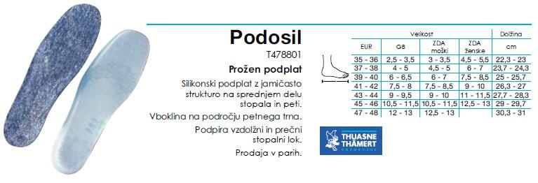 Pedosil - Silikonski podplat