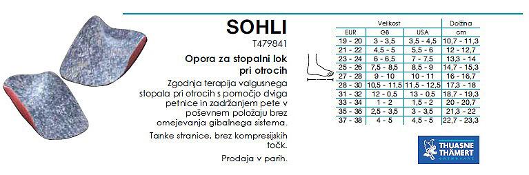 Sohli - opora za stopalni lok za otroke