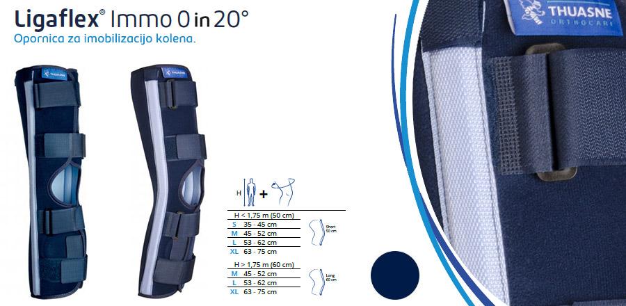 Opornica za imobilizacijo kolena 0 in 20 stopinj