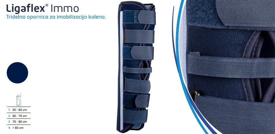 Tridelna opornica za imobilizacijo kolena